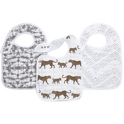 "Conjunto 3 babetes - Hear me roar ""snap bibs"""
