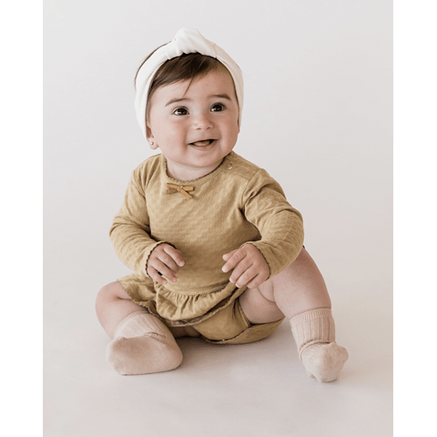 Skirted Onesie - Honey