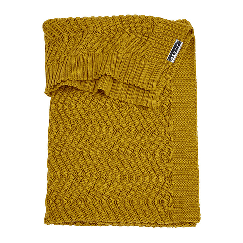 Manta Waves Oker - 100 x 150 cm