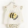 Conjunto camisa e tapa fraldas - Bees