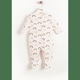 Babygrow - Peach Rainbow
