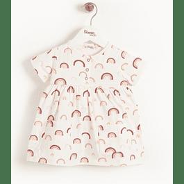 Vestido - Peach Leopard