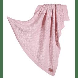 Manta tricotada Raspberry