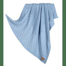 Manta tricotada Blue Jeans