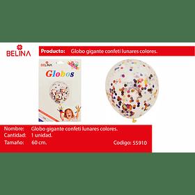 Globo gigante confeti lunares colores 60cm