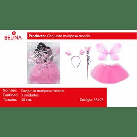Conjunto de mariposa rosado