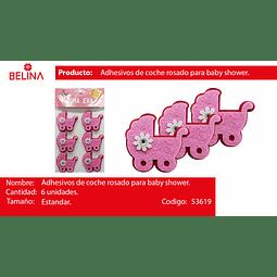 Adorno de goma eva con adhesivo
