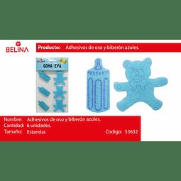 Adhesivos De Oso Y Biberon Celeste