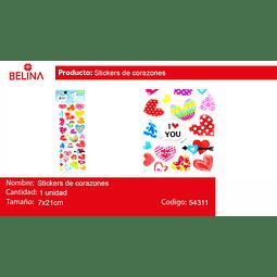 Sticker diseños y colores surtidos