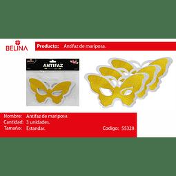 Antifaz de mariposa 3pcs