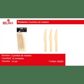Cuchillo de madera 12pcs 14cm