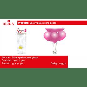 Set de base y palitos para globos 7pcs