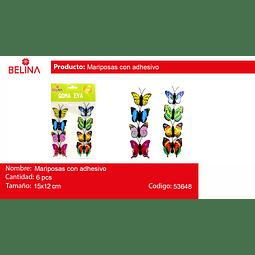 Adorno de mariposa con adhesivos