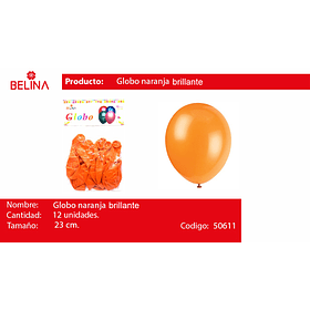 Globo brillante naranja 12 unid