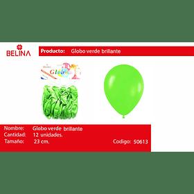 Globo brillante verde 12 unid