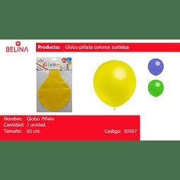 Globo piñata 65cm colores surtidos