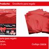 Envoltorio para regalo rojo 23x30.5 cm