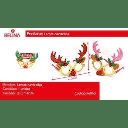 Lentes navideños con orejas 21,5 * 14cm