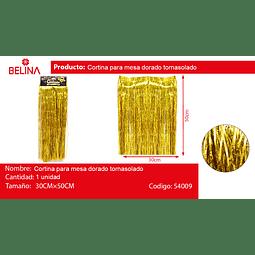 Cortina para mesa oro tornasol 30*50cm 3pcs