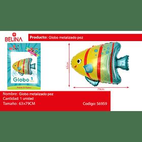 Globo metalizado pez burbuja 63 * 79 CM