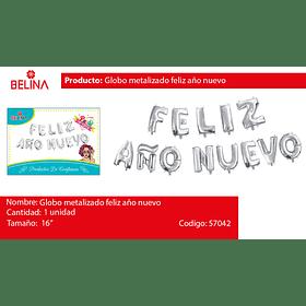 Globo metalizado feliz año nuevo 16 pulgadas