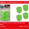 Feston Grueso Verde Claro 6pcs  3.5x10m