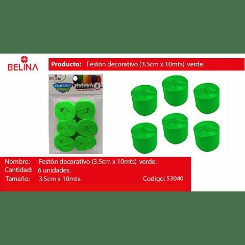 Feston grueso verde 6pcs 3.5x10m