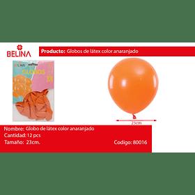 Globos 23cm 12 ud. naranja