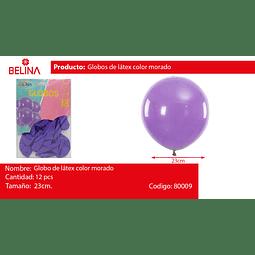 Globos 23cm 12 ud. violeta