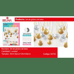 Set de globos de latex oro