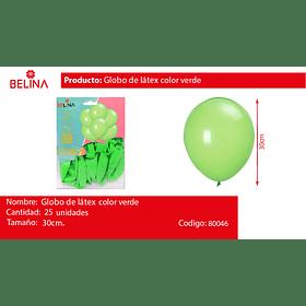Globos de látex 25pcs 30cm fruta verde