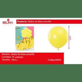 Globos de latex 30cm amarillo 25pcs