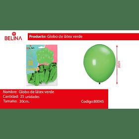 Globos de latex 30cm verde 25pcs