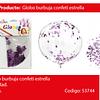 Globo Burbuja Confeti Estrella Morada