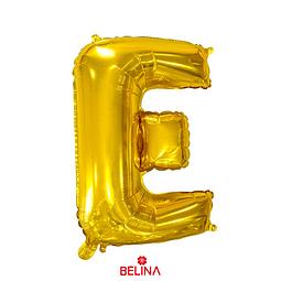 Globo letra E oro 16 pulgadas