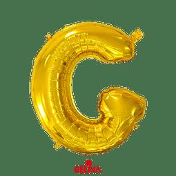 Globo letra G oro 16 pulgadas