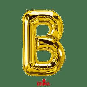 Globo Letra B Oro 16 Pulgadas