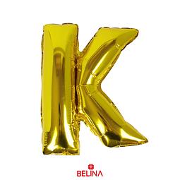 Globo letra K oro 16 pulgadas