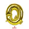 Globo Letra Q Oro 16 Pulgadas