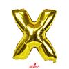 Globo letra X oro 16 pulgadas