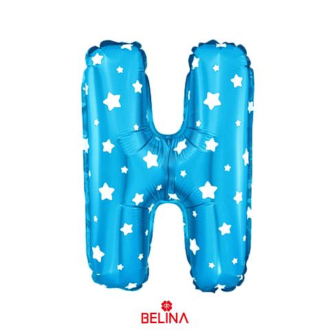 Globo letra H azul 16 pulgadas