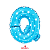 Globo letra Q azul 16 pulgadas