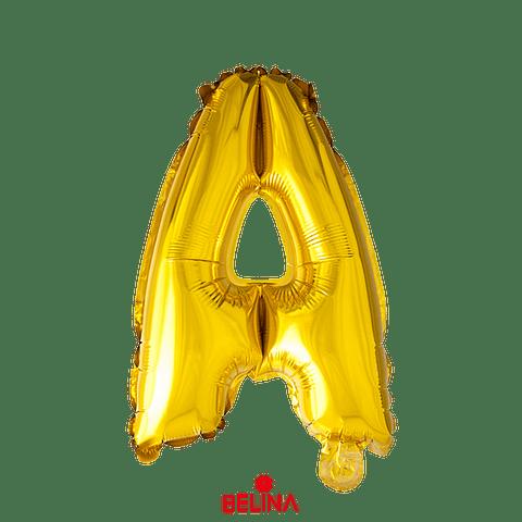 Globo letra A oro 30 pulgadas