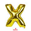 Globo letra X oro 30 pulgadas