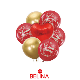 Set de globos de latex dia de la madre 7pcs