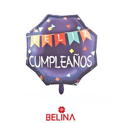 Globo metalico feliz cumpleaños 22 pulgadas