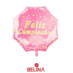 Globo metalico feliz cumpleaños rosa de 22 pulgadas