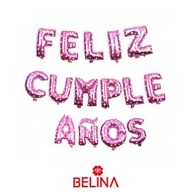 Globo letras feliz cumpleaños fucsia 16 pulgadas