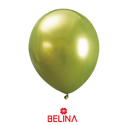 Globos De Latex Cromado Verde 5pcs 30 Cm