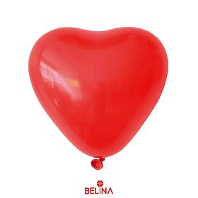 Globo de latex corazón rojo 80cm